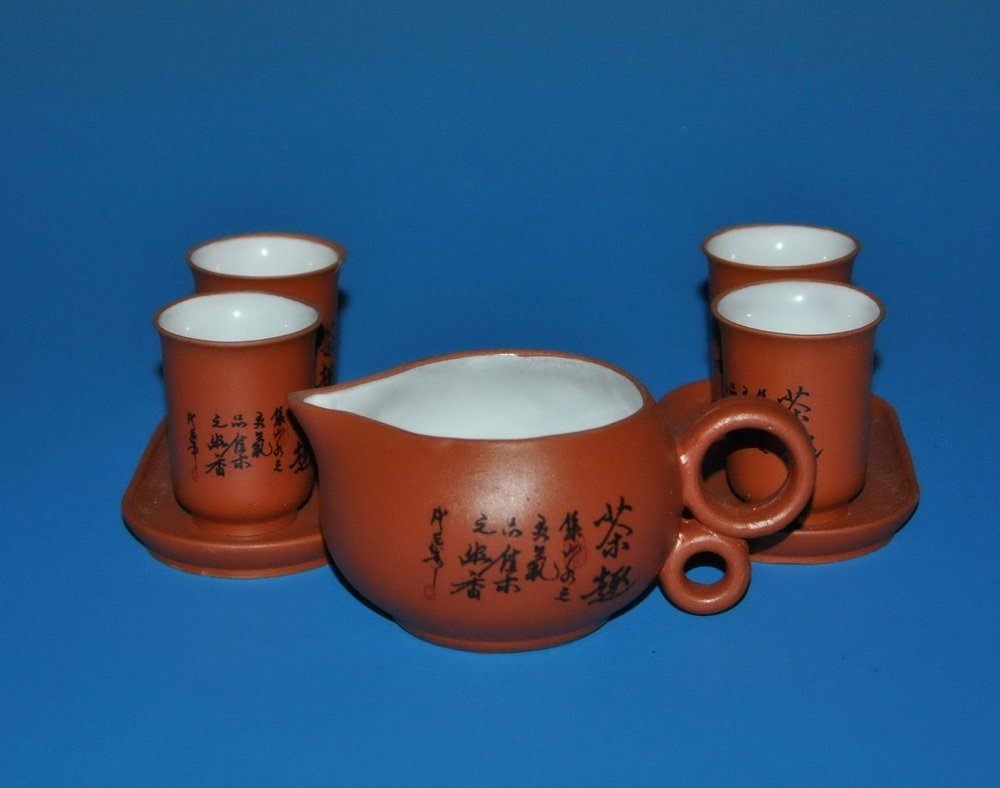 7 PCs Chinese Zisha Tea Set