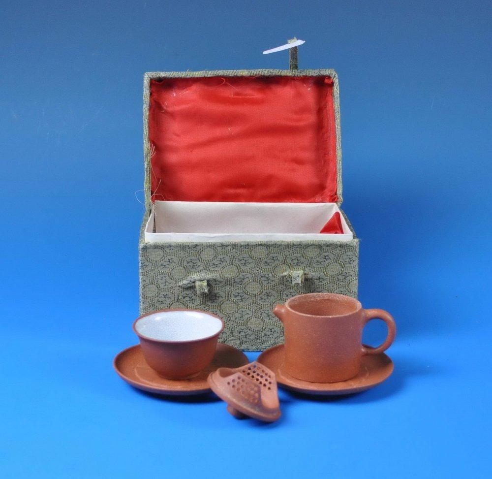 5 PCs Chinese Zisha Tea Set w. Box