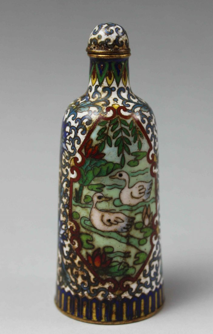 Chinese Antique Cloisonne Snuff bottle