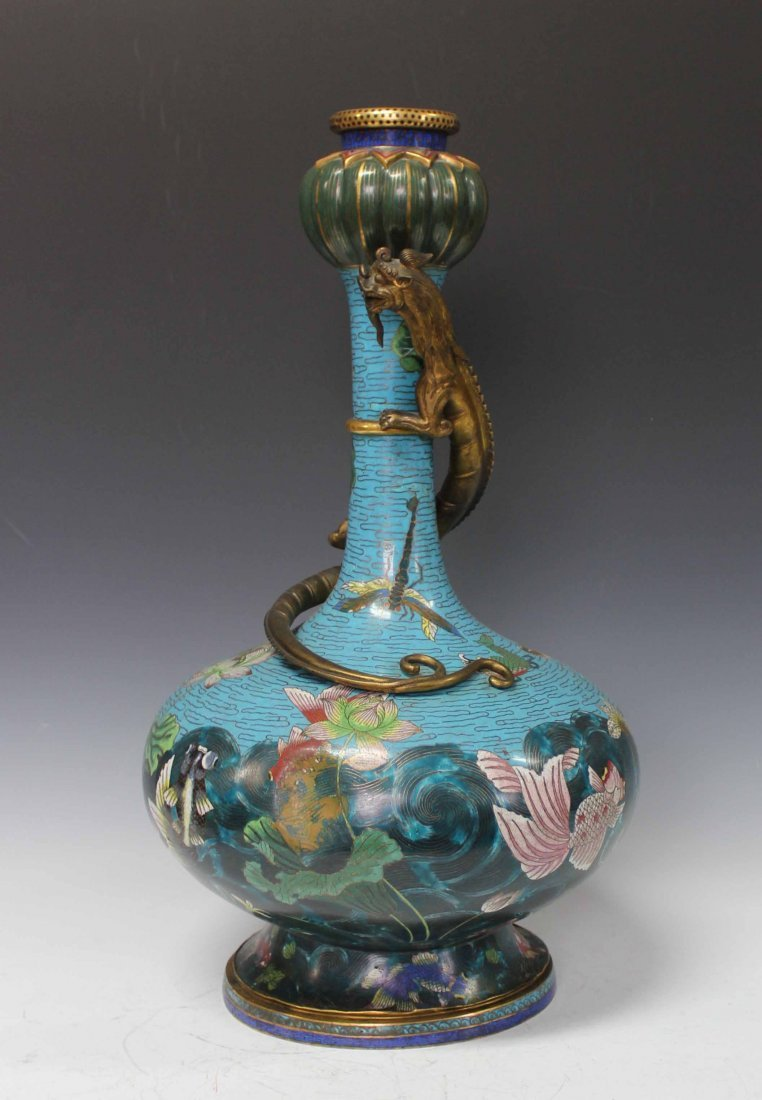 Chinese Antique Large Cloisonne Vase