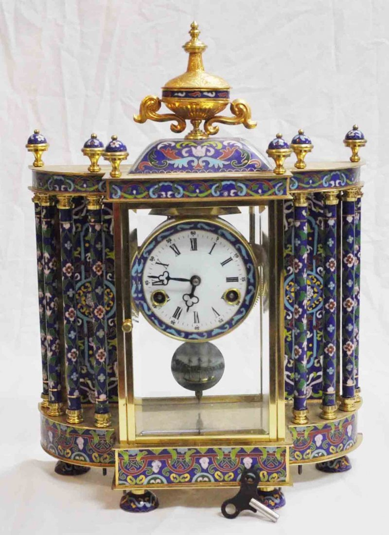 Chinese Antique Cloisonne Clock
