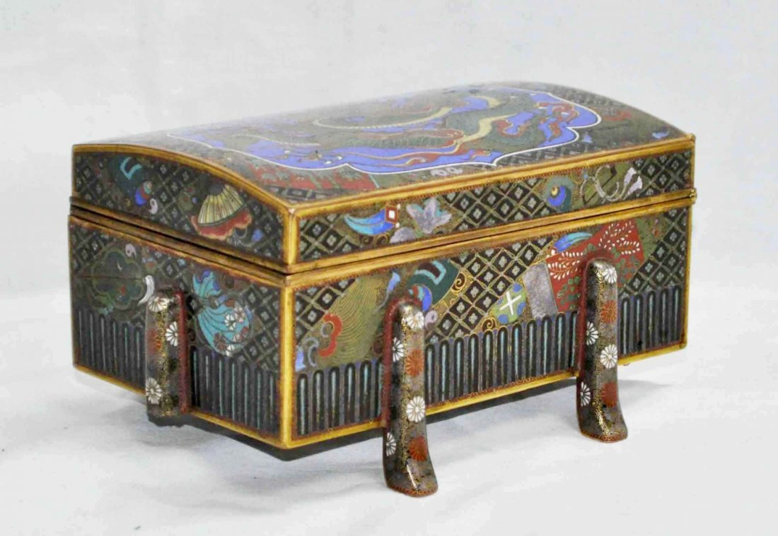 Japanese Antique Cloisonne Box