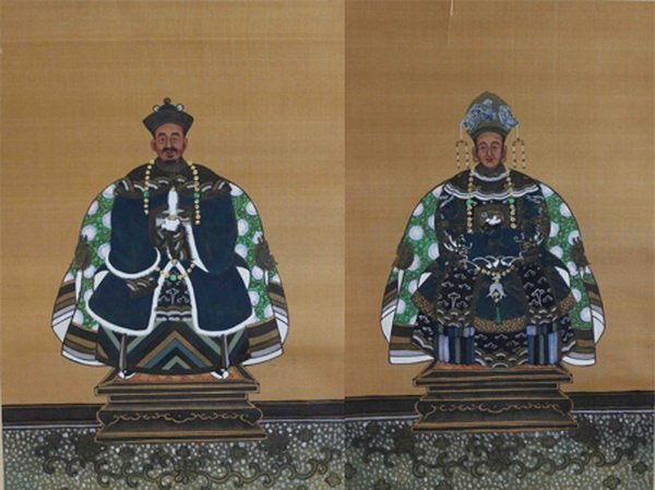 Pair Of Chinese Hand Paintings