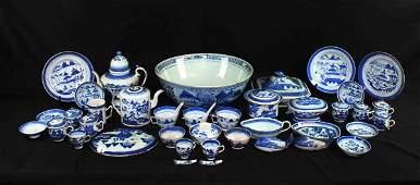 41 Chinese Antique Porcelain Large Bowl & Teapots