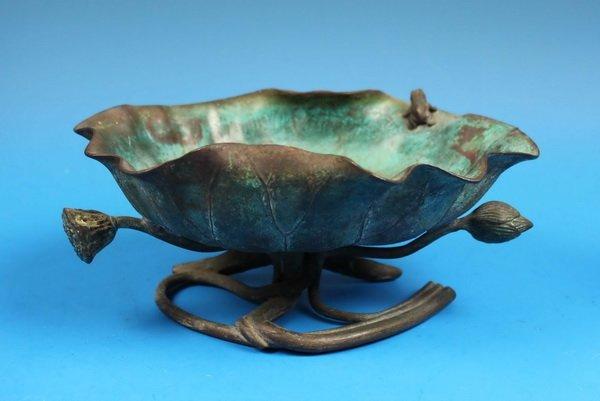 Japanese Bronze Brush Washer w.Marked