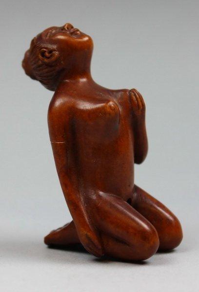 Japanese Carved Wooden Netsuke