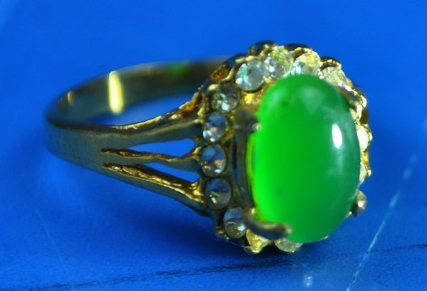 Chinese Carved Jadeite Ring