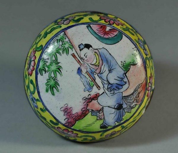 Chinese Hand Painting Enamel Box