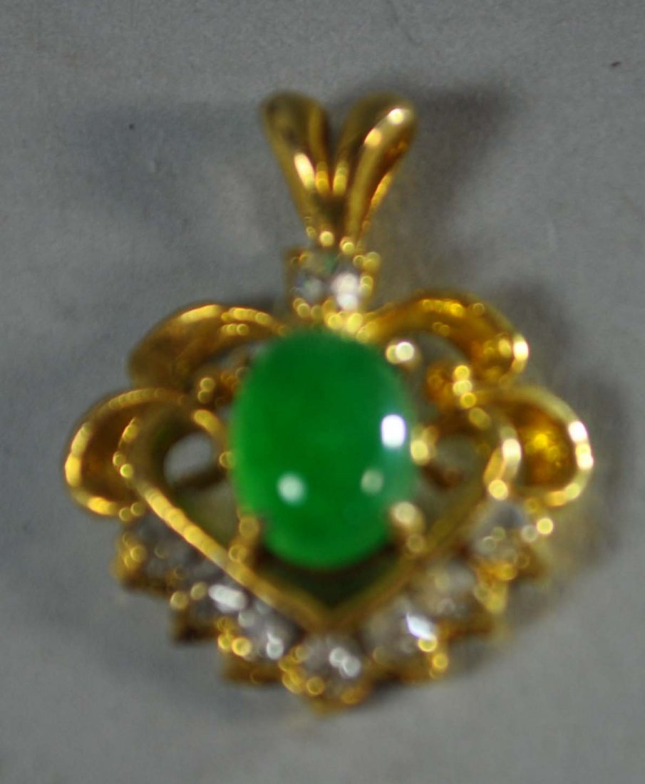 Chinese Carved Jadeite Pendent