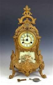 France Antique Gilt Bronze Clock