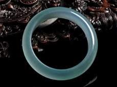 Chinese Carved Jadeite Bangle