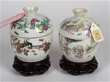 Two Chinese Porcelain Teacaddies