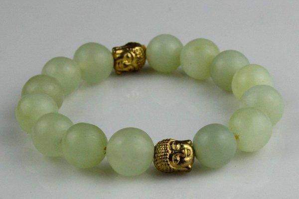 Chinese jade bangle elastic jade Bracelet