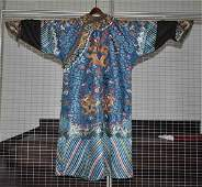 Chinese Antique Embroidery Silk Dragon Robe