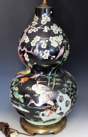 Chinese Porcelain Vase Made Table Lamp