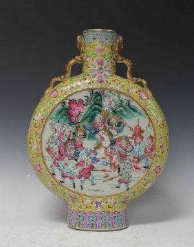 Chinese Antique Porcelain Moon Flask Vase