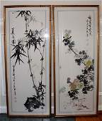 Pair of 40 Chinese Framed Handed Ink Paintings