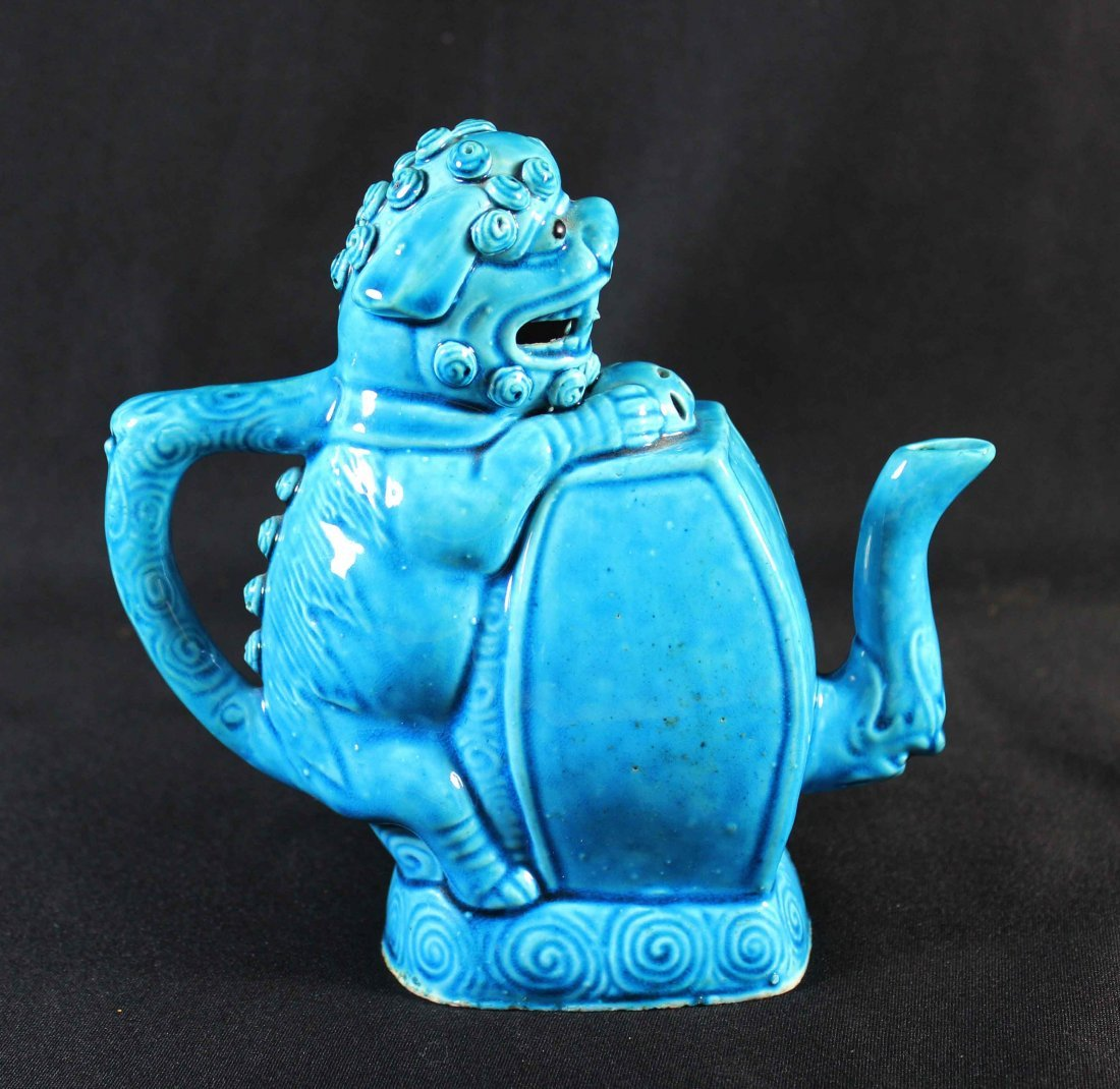 Chinese Blue Porcelain Wine Pot