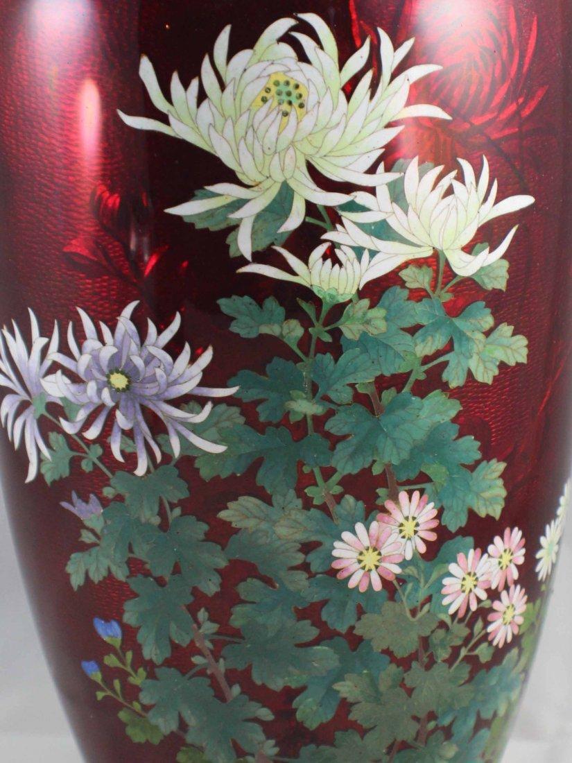 Japanese Cloisonne Enamel Vase - 3