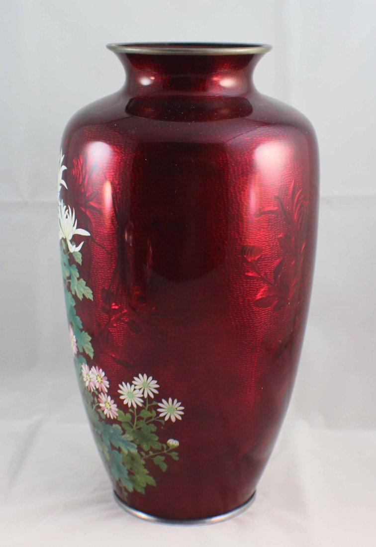Japanese Cloisonne Enamel Vase - 4