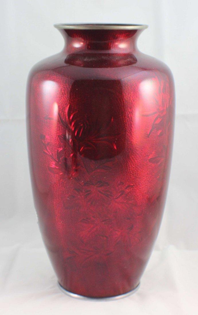 Japanese Cloisonne Enamel Vase - 5