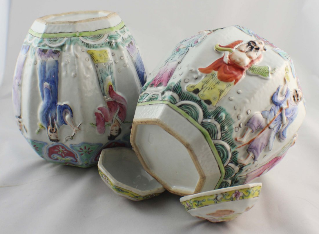 Pair Of Chinese Porcelain Ginger Jar - 10