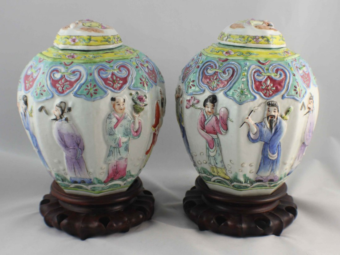 Pair Of Chinese Porcelain Ginger Jar - 5
