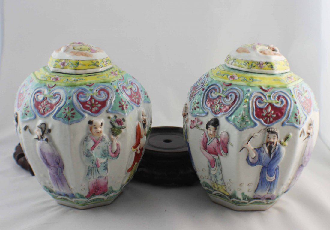 Pair Of Chinese Porcelain Ginger Jar - 6