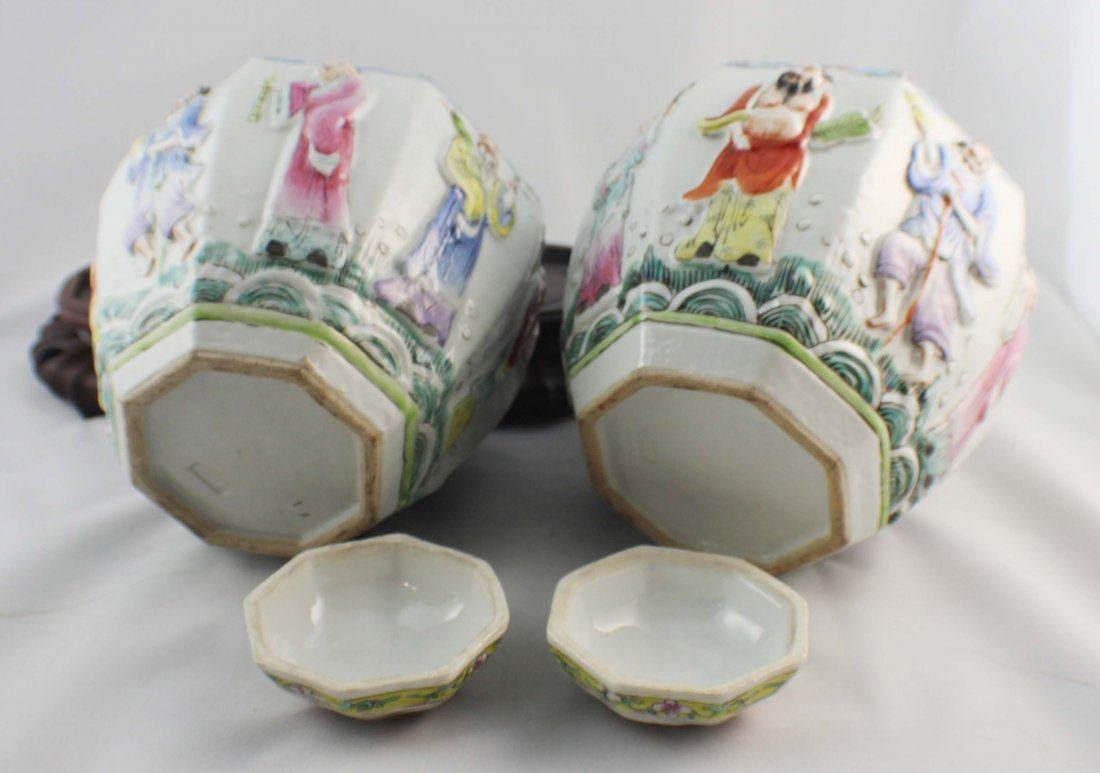 Pair Of Chinese Porcelain Ginger Jar - 9