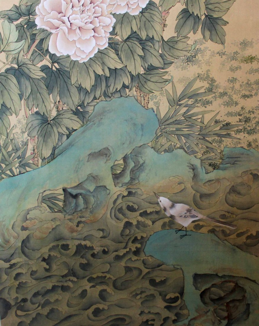 Chinese Hand Painted Scroll - 7