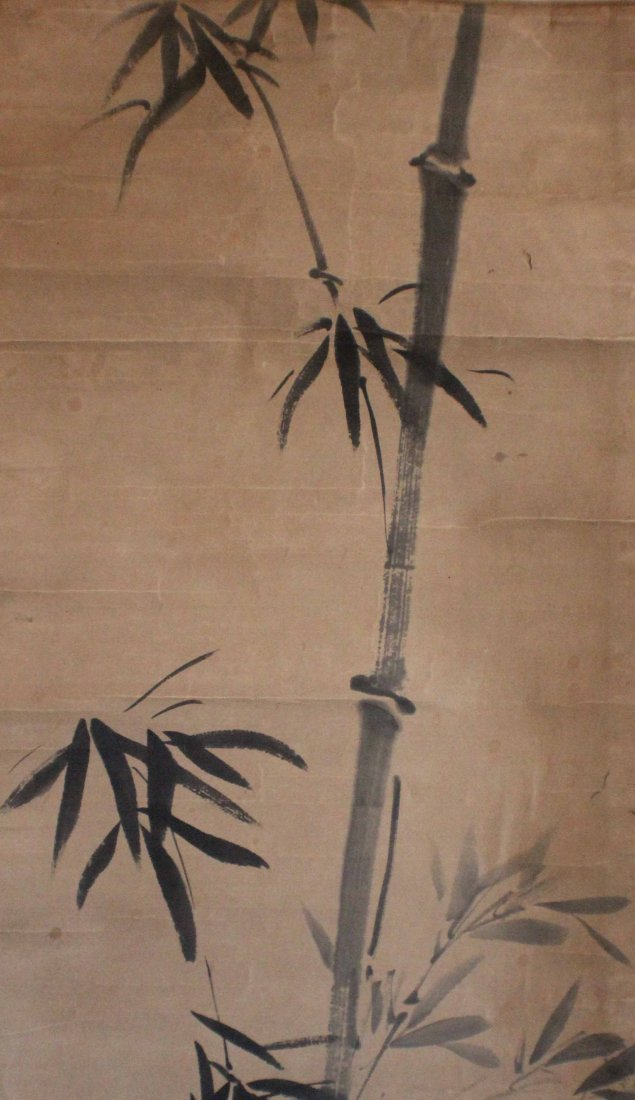Pair Of Chinese Painted On Silk Scroll - 9