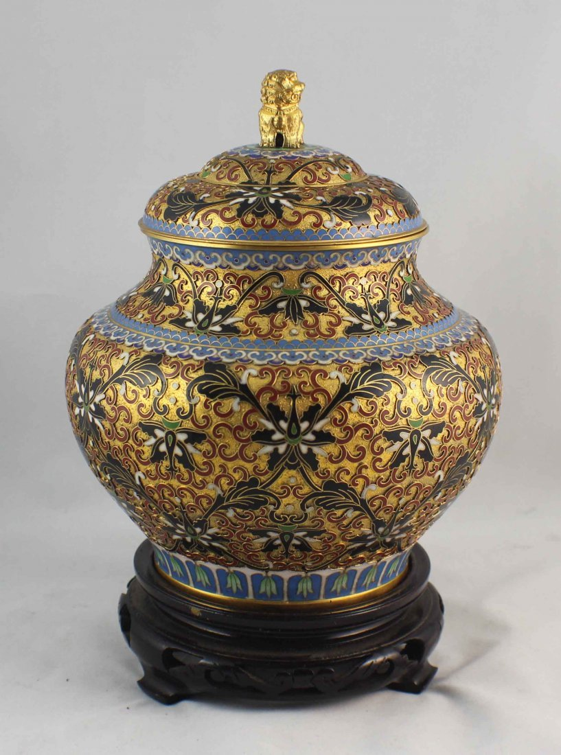 Chinese Cloisonne Ginger Jar