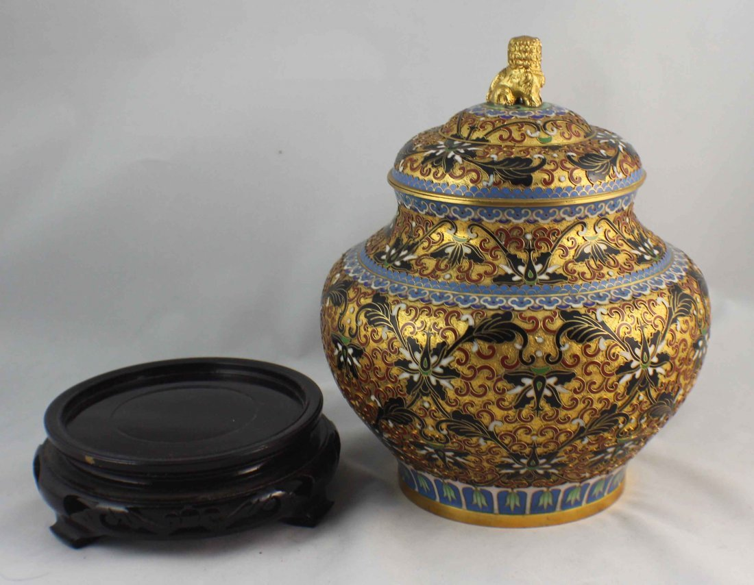 Chinese Cloisonne Ginger Jar - 3