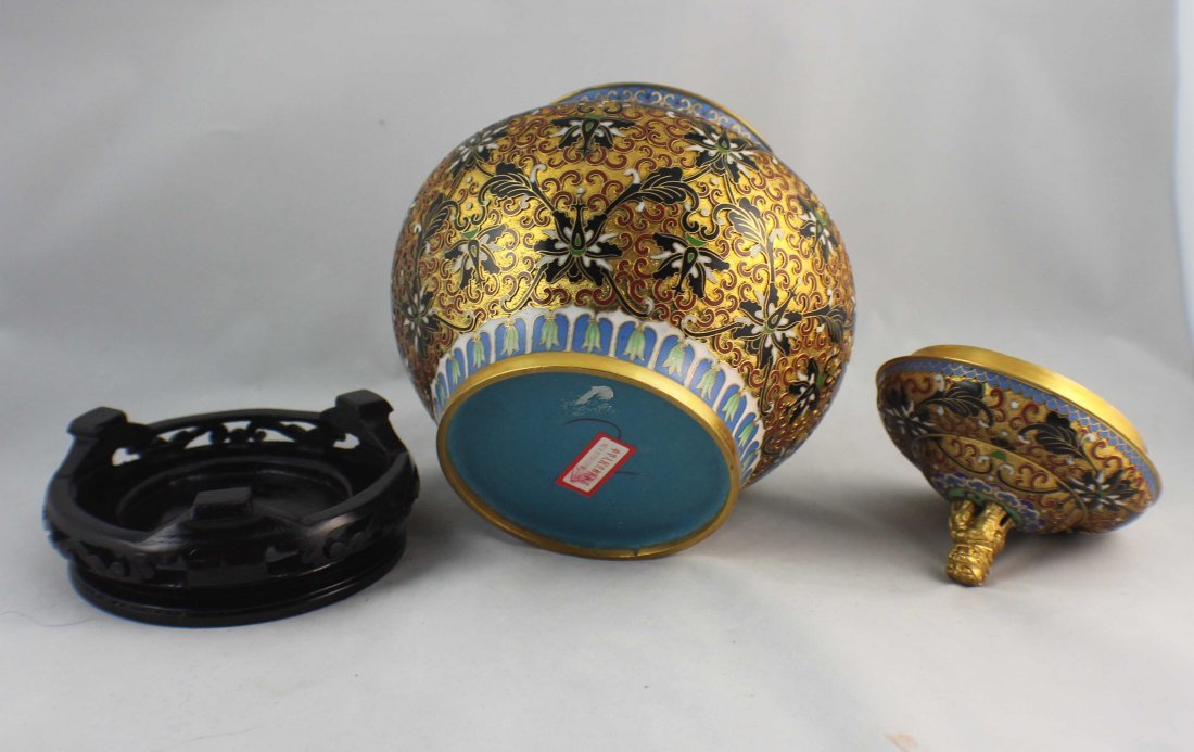 Chinese Cloisonne Ginger Jar - 6