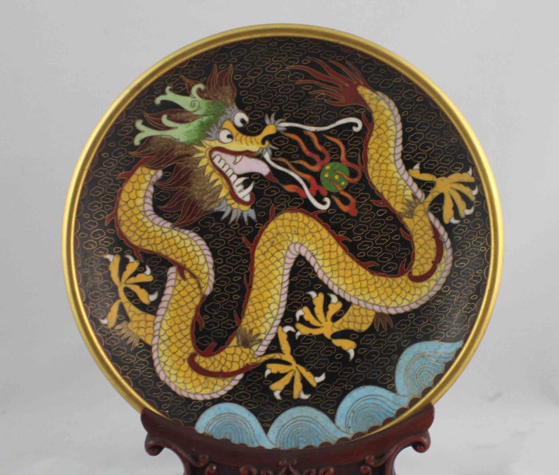 Chinese Cloisonne Plate - 2