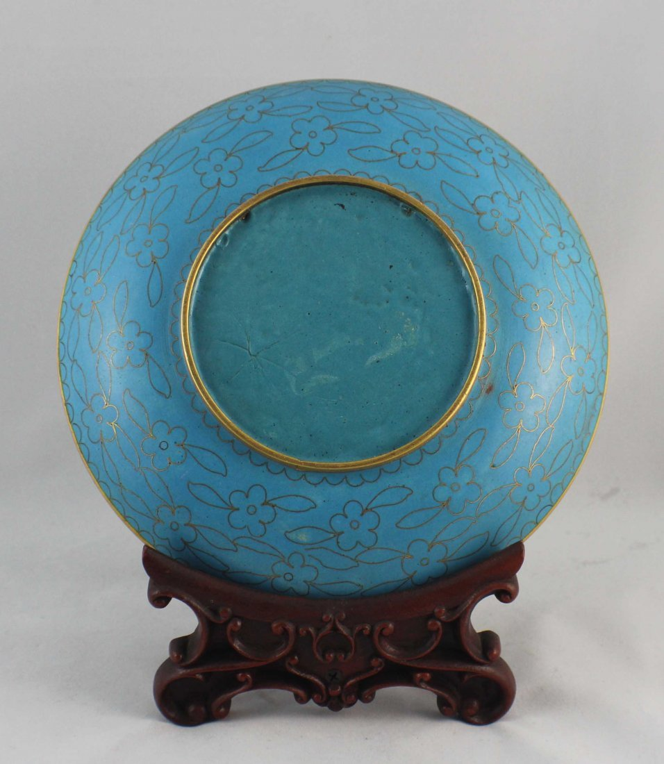 Chinese Cloisonne Plate - 4