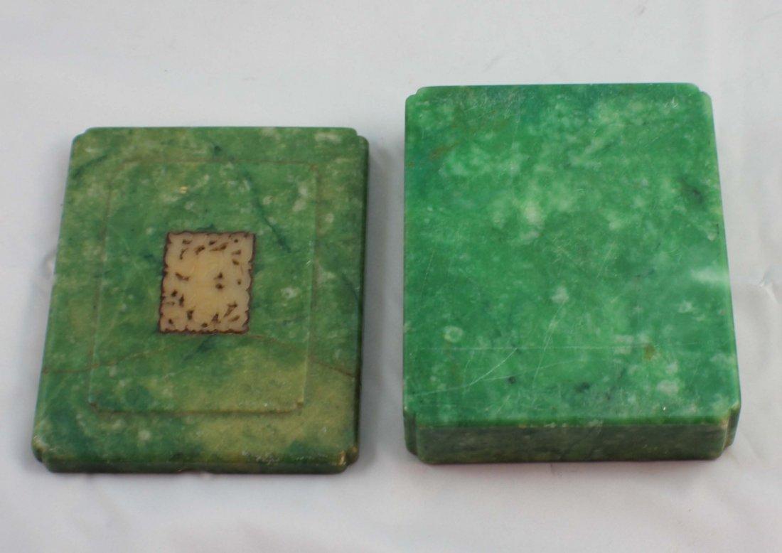 Chinese Carved Jade Box - 10