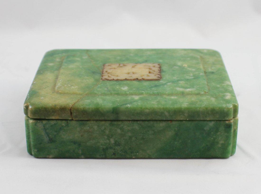 Chinese Carved Jade Box - 2