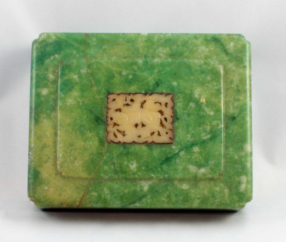 Chinese Carved Jade Box - 3