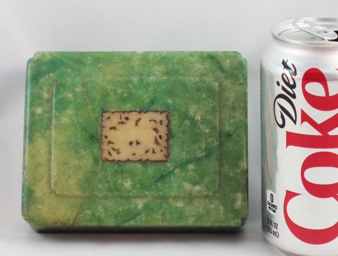 Chinese Carved Jade Box - 4