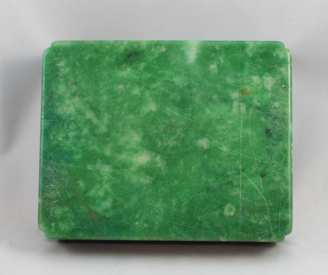 Chinese Carved Jade Box - 6