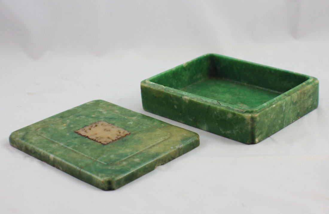 Chinese Carved Jade Box - 7