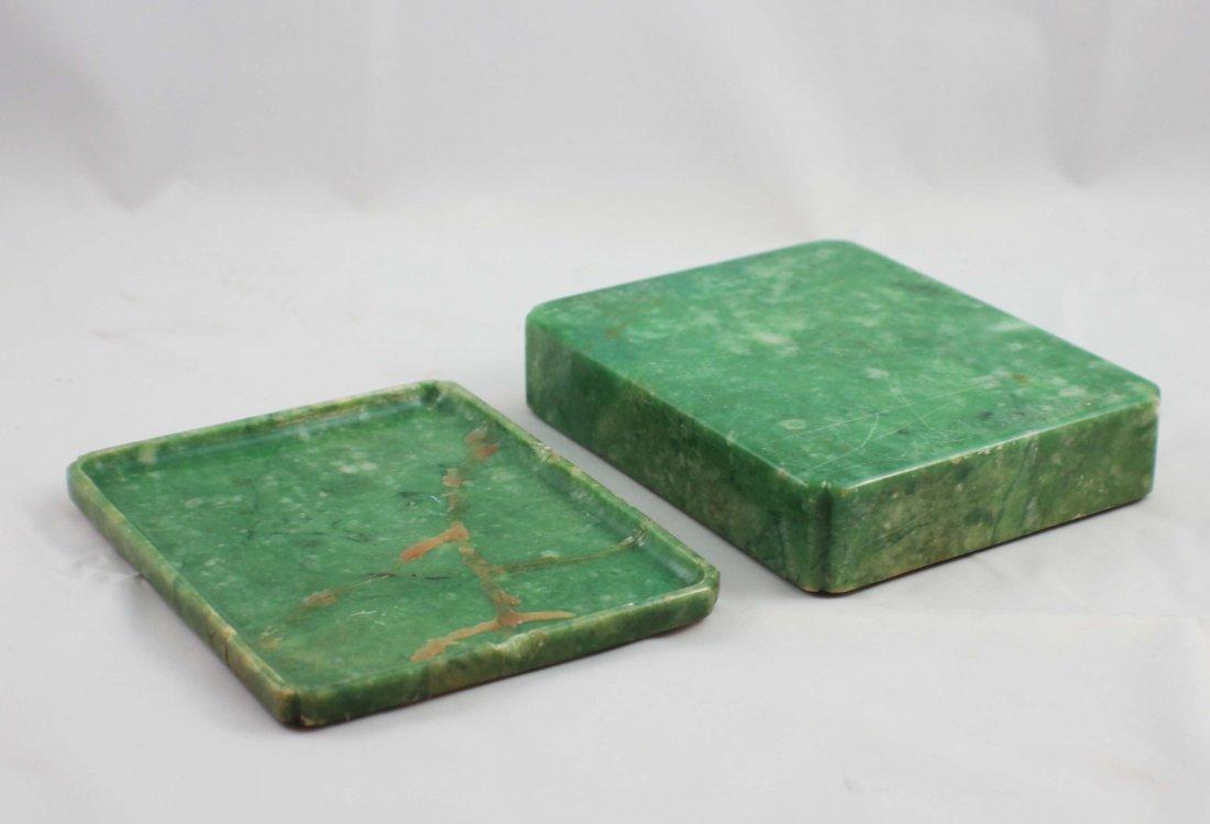 Chinese Carved Jade Box - 8