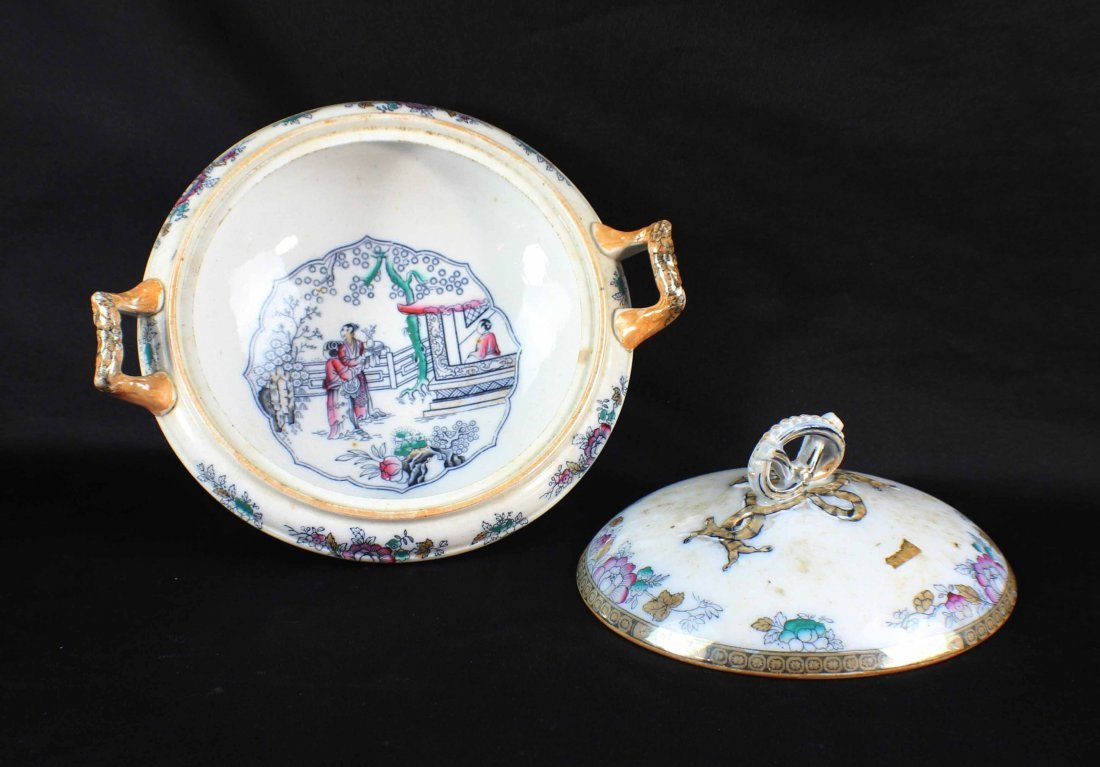 Group Chinese Porcelain Bowls & Plates - 8
