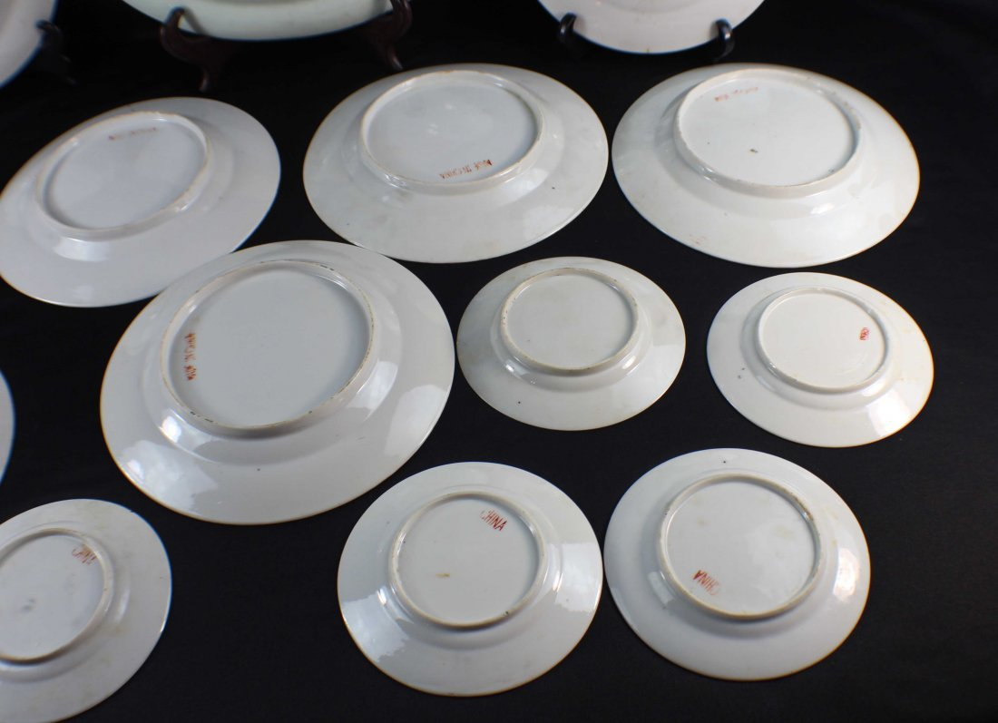 Group Chinese Porcelain Bowls & Plates - 10