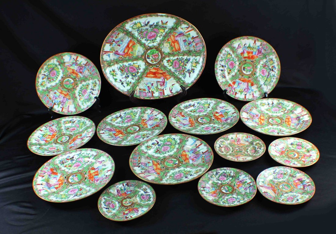 Group Chinese Porcelain Bowls & Plates