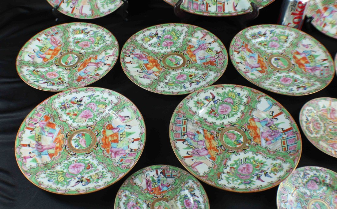Group Chinese Porcelain Bowls & Plates - 3