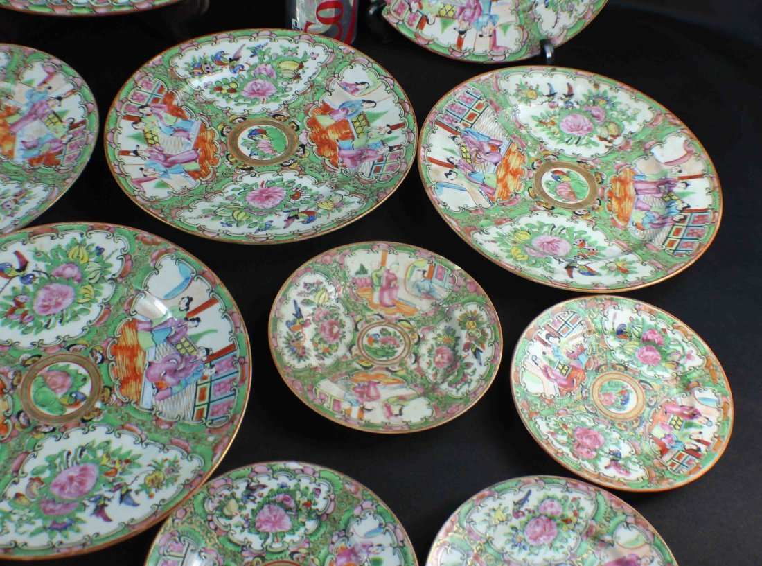 Group Chinese Porcelain Bowls & Plates - 4