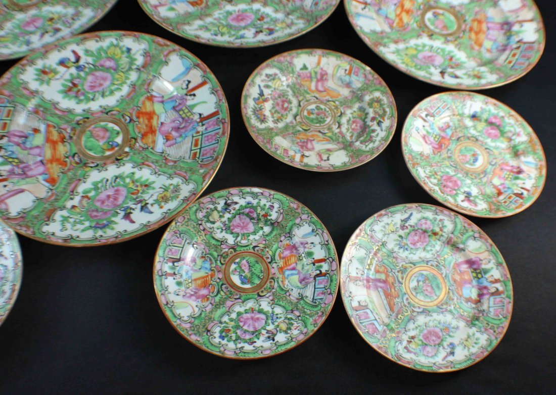 Group Chinese Porcelain Bowls & Plates - 5