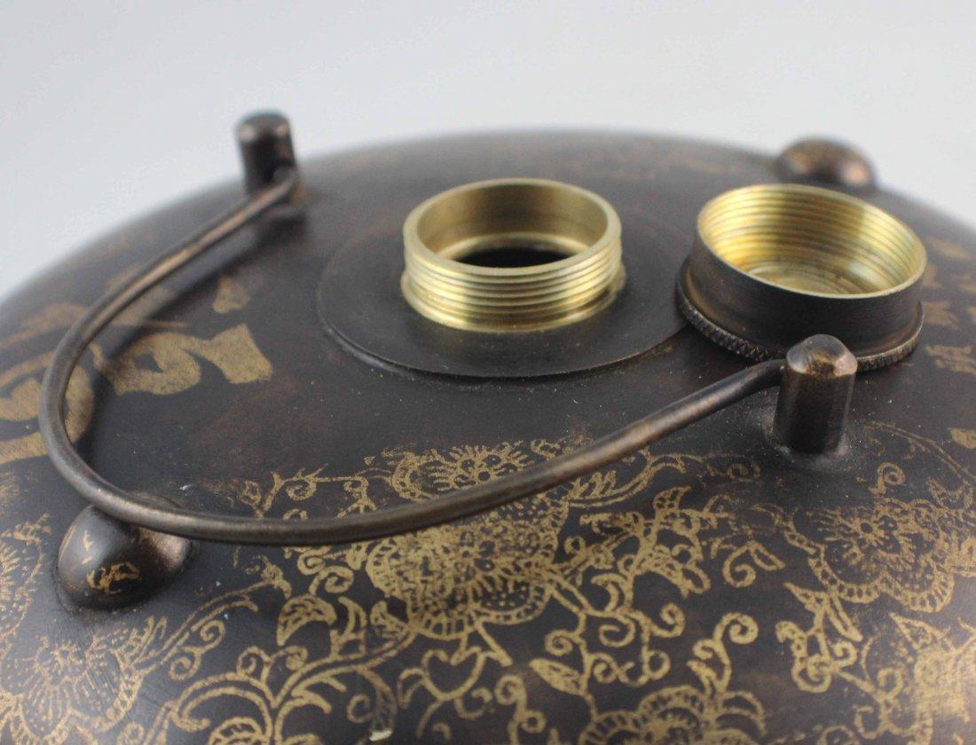 Chinese Bronze Warm Water Tank Marked - 8